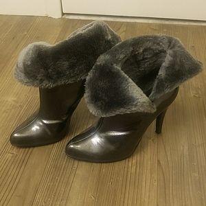 Convertible Faux Fur Ankle Boots